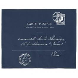 Serwety Na Stół Granatowe CARTE POSTALE (2 szt.)