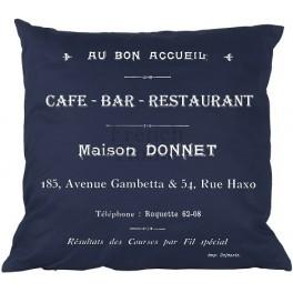Poduszki Ozdobne Granatowe CAFE BAR
