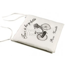 White Chair Pads BICYCLETTE
