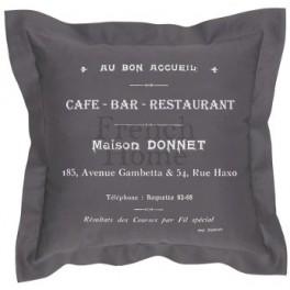 Poduszki Dekoracyjne Szare CAFE BAR