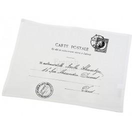 Serwety Na Stół Białe CARTE POSTALE (2 szt.)