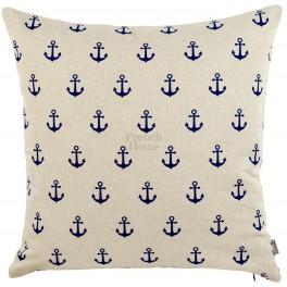 Poduszka Marynistyczna z Kotwicami Beżowa