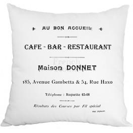 Poduszki Ozdobne Białe CAFE BAR